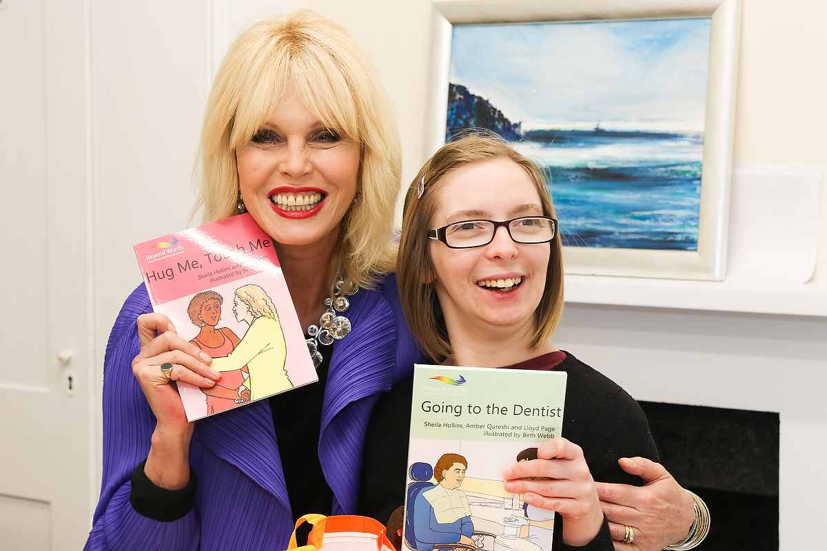 Absolutely Fabulous star, Joanna Lumley, opened the newly-refurbished building of The Grange Centre for People With Disabilities, Bookham, on Wednesday, 8 March 2017 Picture shows: Joanna Lumley with Ashley, a resident at the Grange.