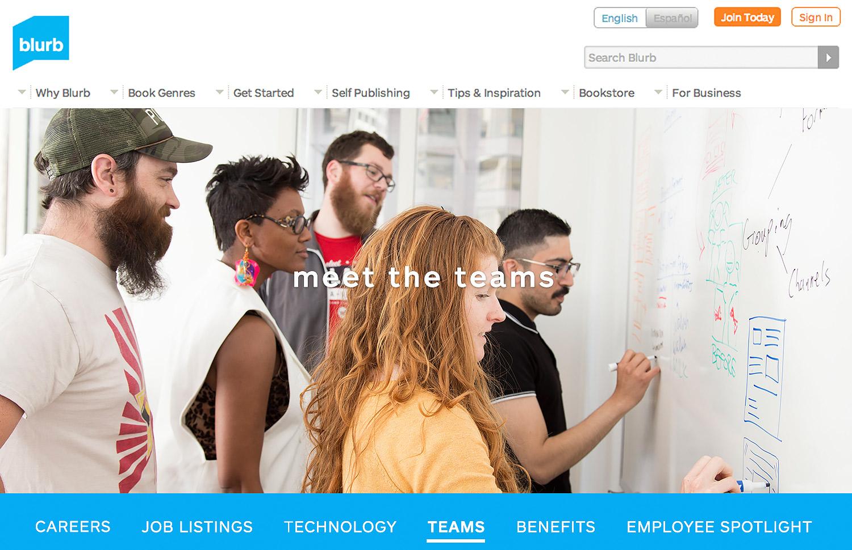 Blurb Career's website