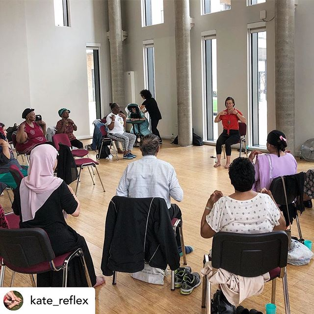 Complementing Your Health Posted @withrepost • @kate_reflex 🎶 Dream a Little Dream of Me 🎶 . . . Gentle tapping to energise the body during chair yoga 🌱💫👣 Hackney Over 50s community project ❤️ . . #reflexology  #reflexologist #yoga #yinyoga #chairyoga #restoration #mentalhealth  #soundbath #eastlondon #hackney  #selfcare #over50s #yogaeverydamnday #reflex #oxytocin #reflection #happyfeet👣 #barefoottraining #reflexologymassage #healing #endorphins #triggerpoint #barefoot #muscleenergy #rejuvenate #circulation #humantouch #holistictherapy #holisticmassagetherapy #barefooted