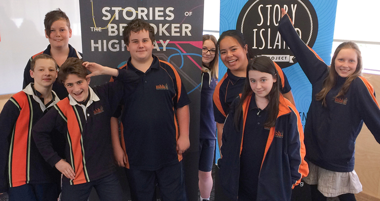 The fabulous youth editorial team from Montrose Bay High School, who helped us edit and lay out the  Stories of the Brooker Highway  book!