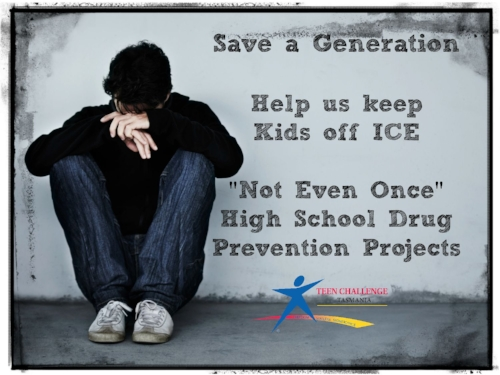 Help us raise funds for our not even once drug prevention projects and help tassie kids stay off ice