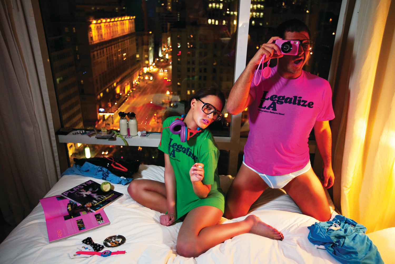 Eli Rezkallah and Amina El Allam, Behind the scenes Plastik Magazine. Montreal 2008