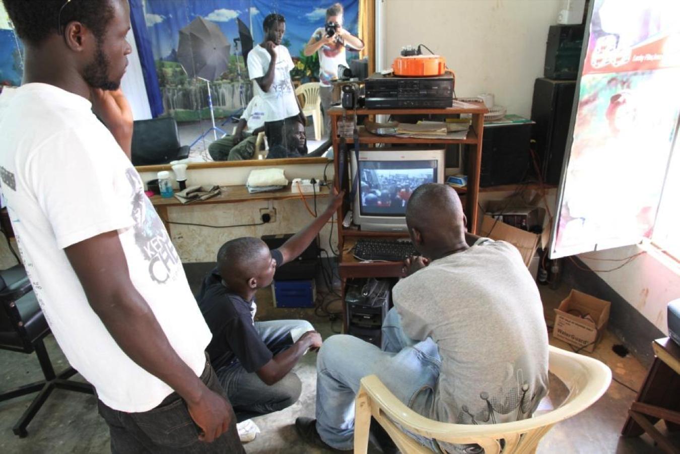 The anthropologist in action Gulu, Uganda,circa 2010.