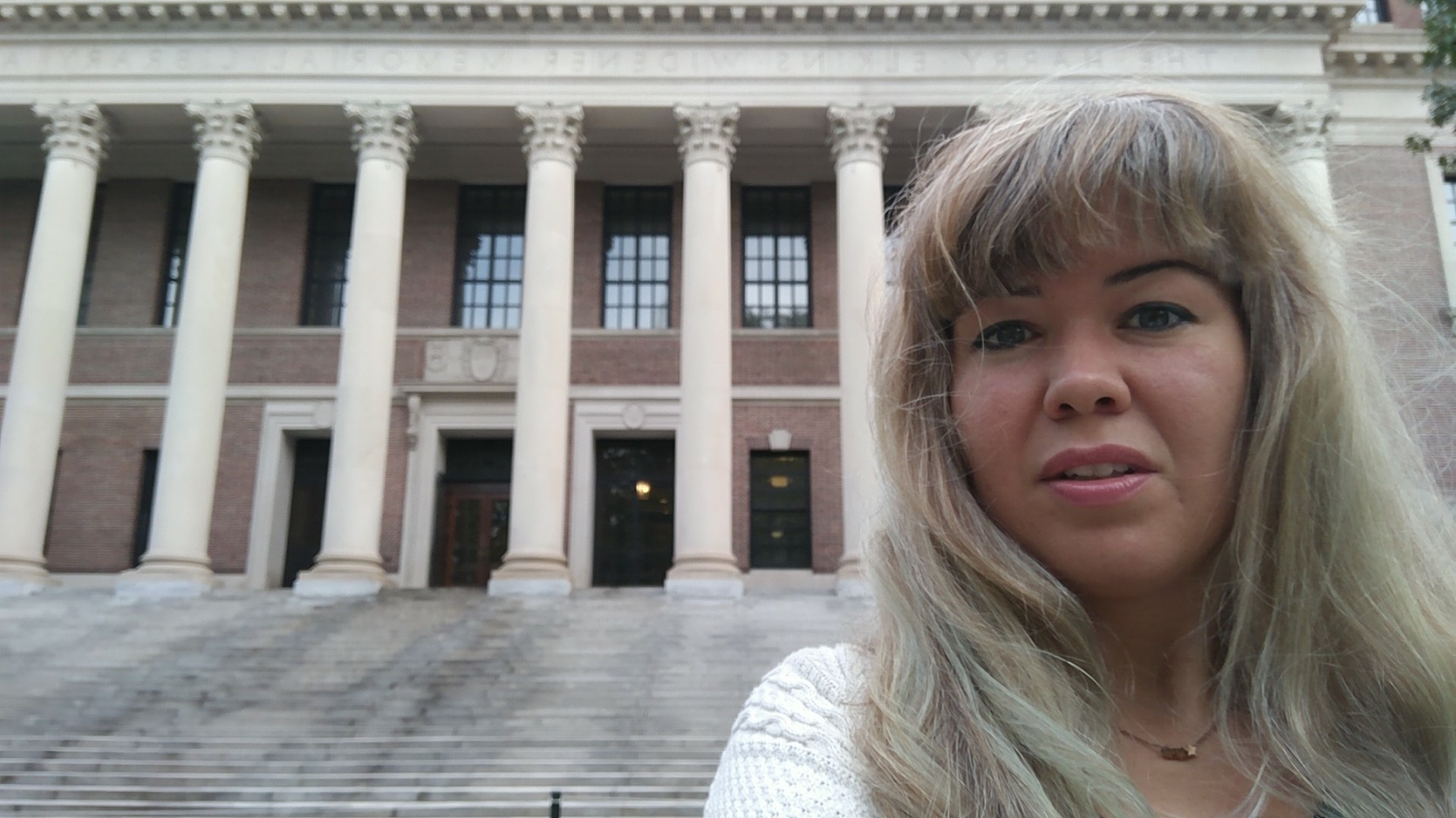 In the Center of Knowledge: Widener Library in Harvard Yard