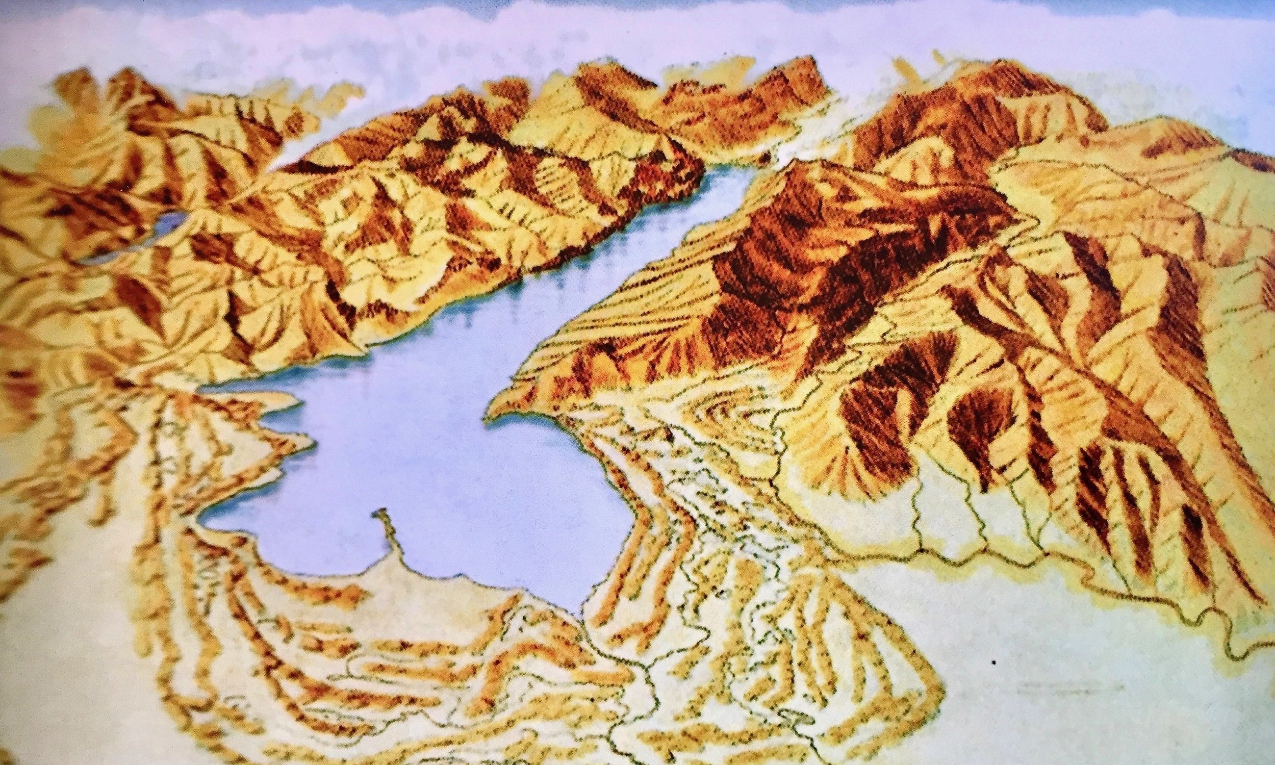 Lake Garda 10,000 years ago  Out of the drifting of these materials (morains) the Morainic Hills were born