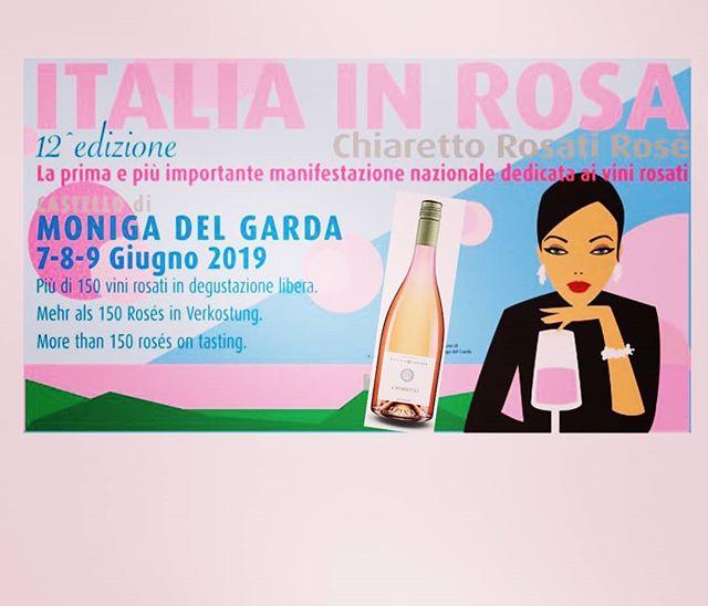 Vi aspettiamo anche oggi e domani a #italiainrosa #moniga . #selvacapuzza #instagarda #instawine #luganalover #ais #vino #wine #chiaretto #pinkwine #rosewine #winemoments #winetime #lagodigarda #winelife