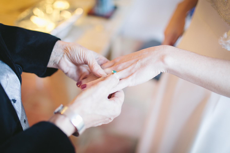 Wedding prep, engagement ring detail