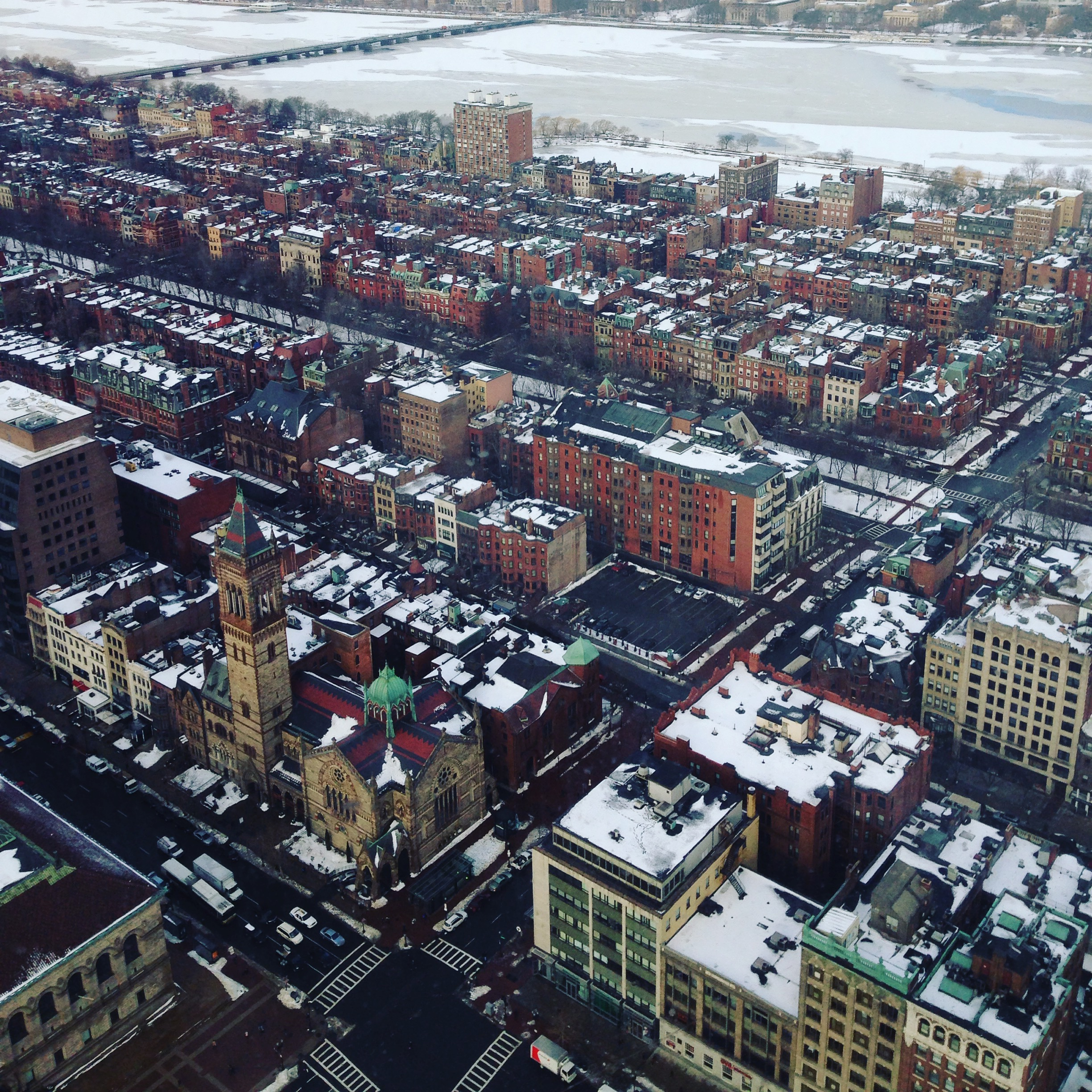 Boston from above. Photo credit - me.