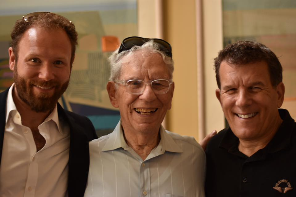 From left to right: me, my grandfather, and my dad.