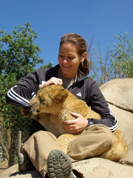 Kristy Tipton in a South Africa Sanctuary