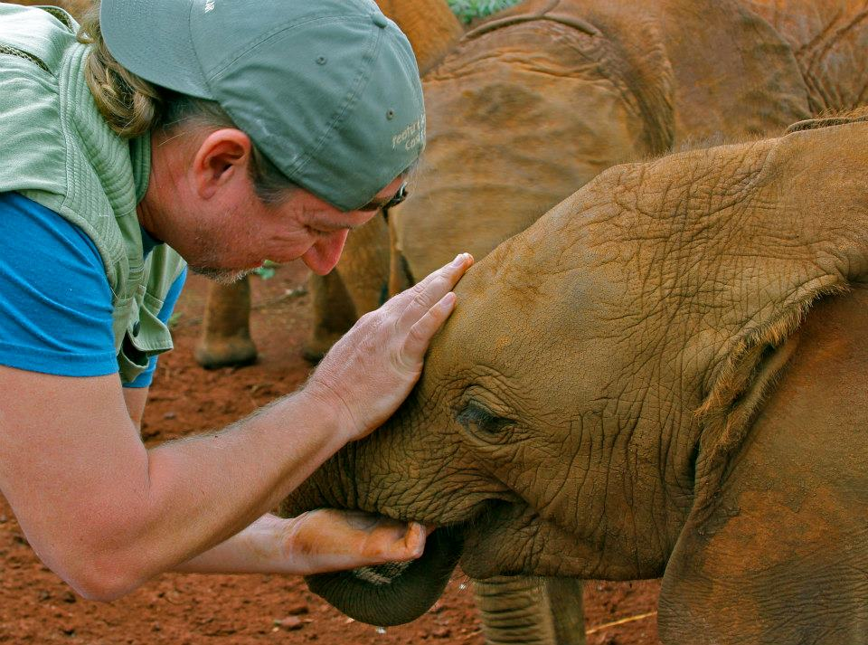 Aaron Blaise at the David Sheldrick Wildlife Trust