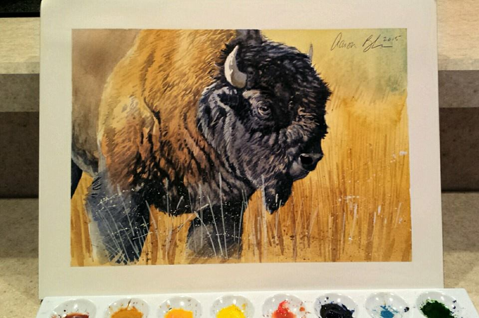 Jackson Hole, WY bison art from Aaron Blaise