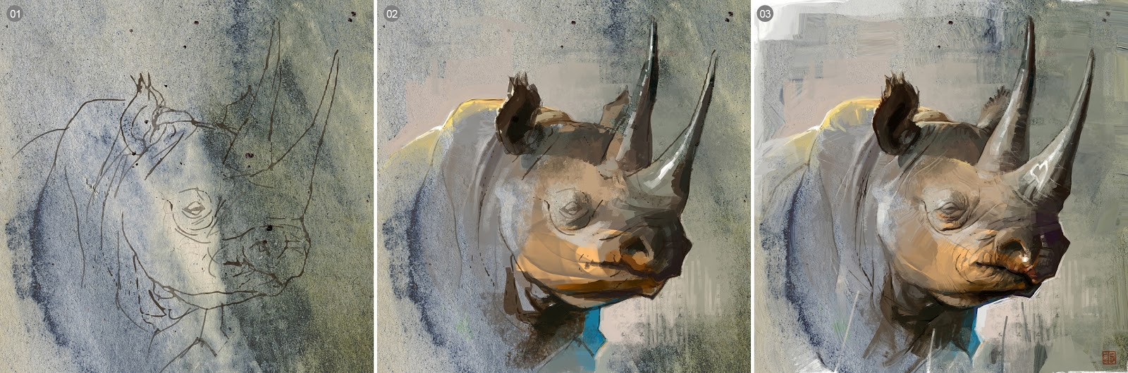 Rhino art prprocess by Thierry