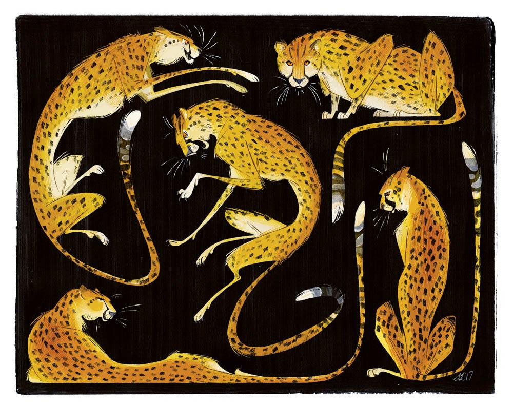 """Liquid Feline"" by  Steph Laberis  (digital)"