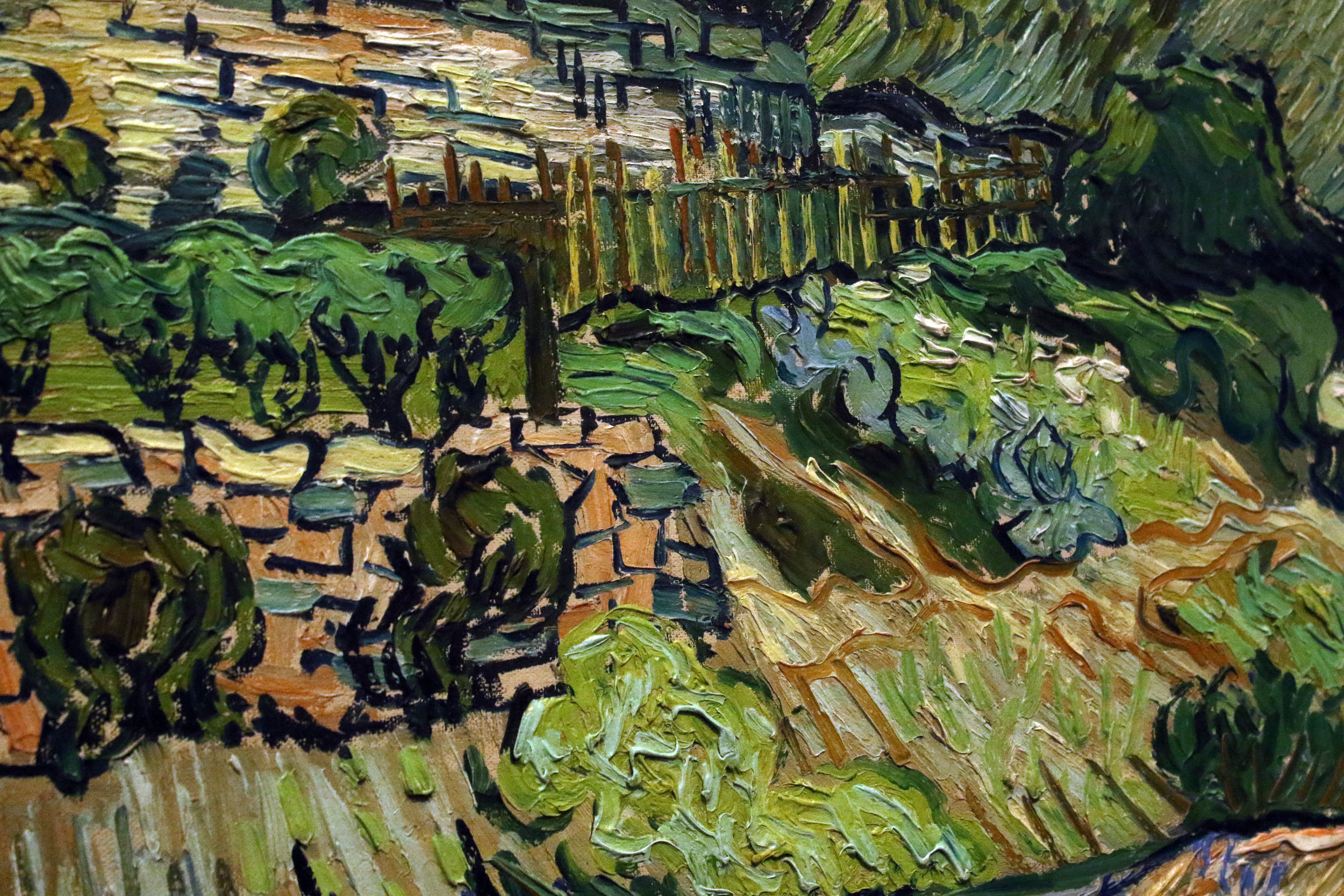 Detail shot of one of Van Gogh's paintings on display at the Musee d'Orsay