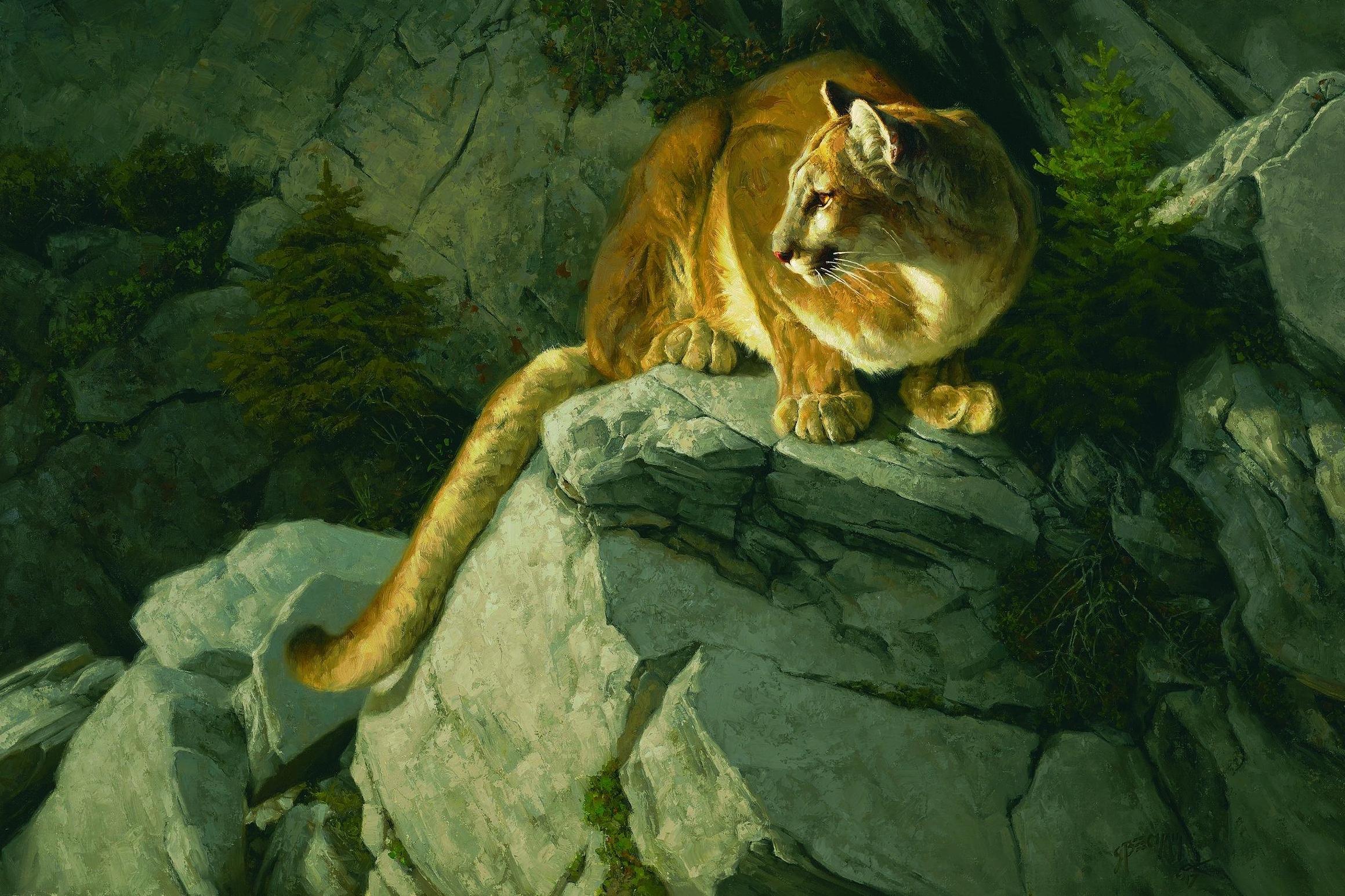 """Vantage Point"" by  Greg Beecham  (Oil on linen)"