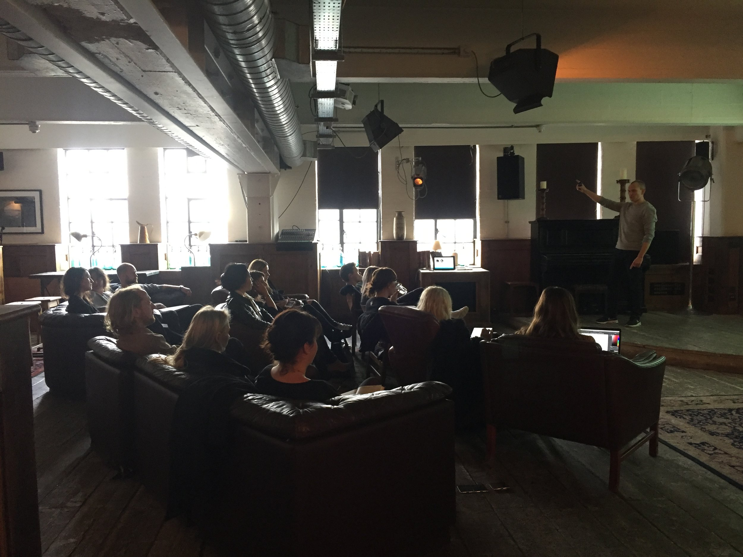 Peter Czapp of The Wow Company giving a talk at Shoreditch House