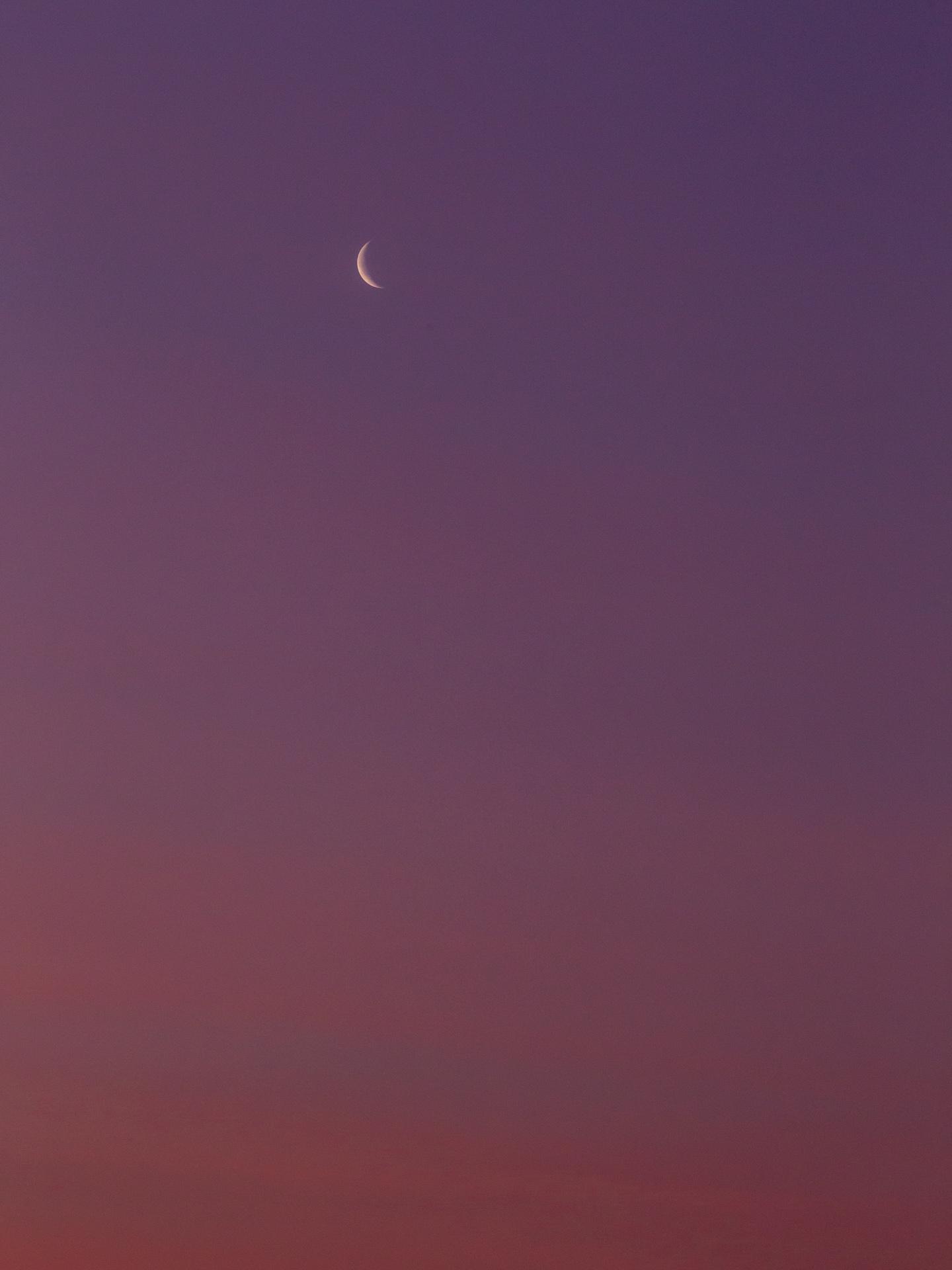 Waning Crescent Moon at Sunrise | 20190430 0601 E:38.96x77.00@84m