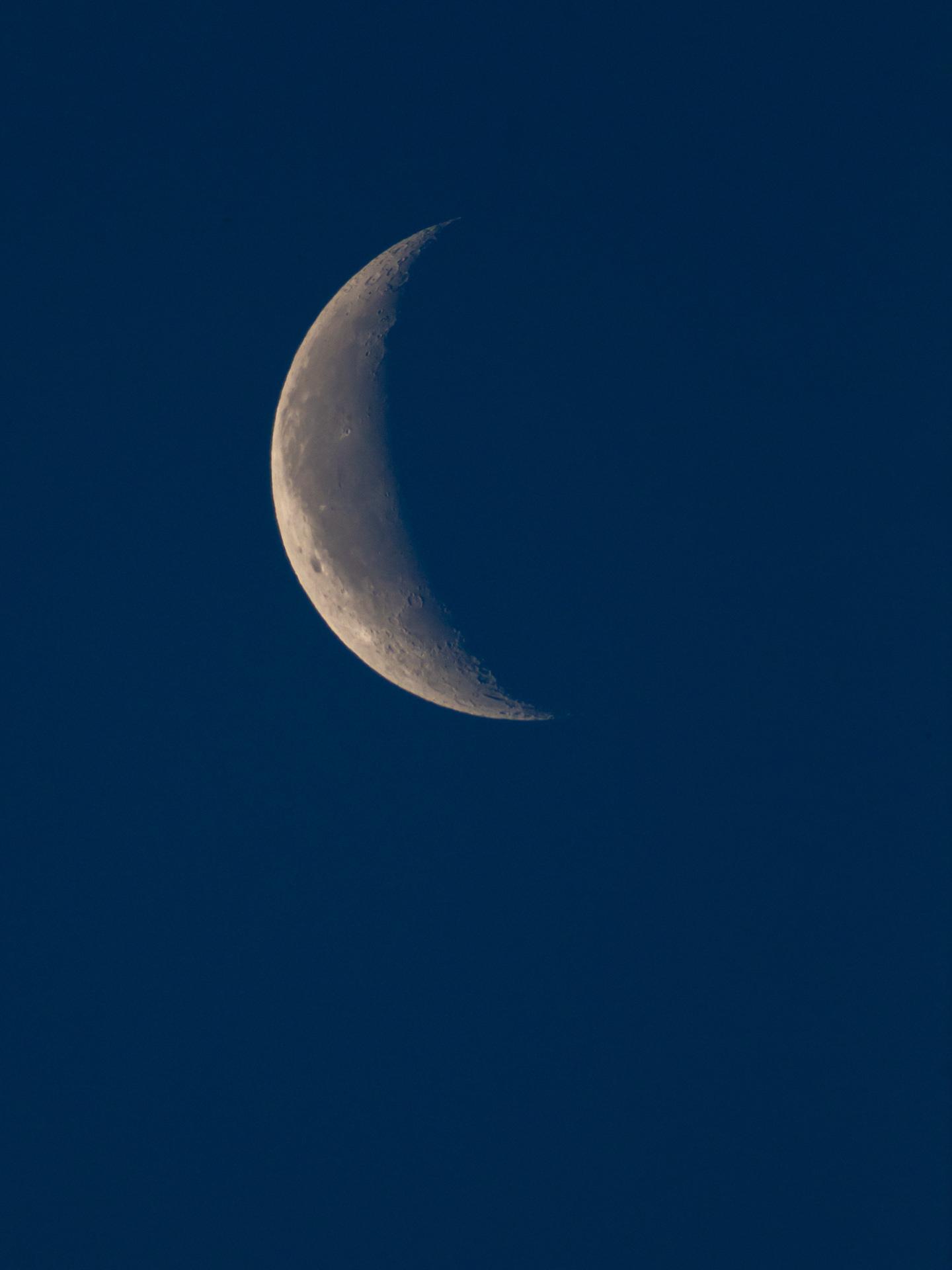 Waning Crescent Moon at Sunrise | 20190529 0540 E:38.96x77.00@84m