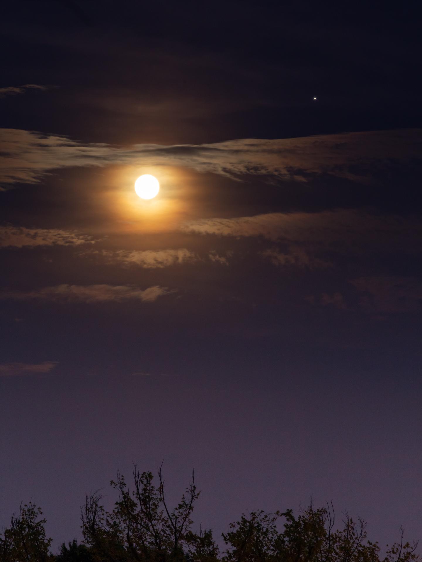 Full Strawberry Moon and Jupiter | 20190616 2116 E:38.96x77.00@84m