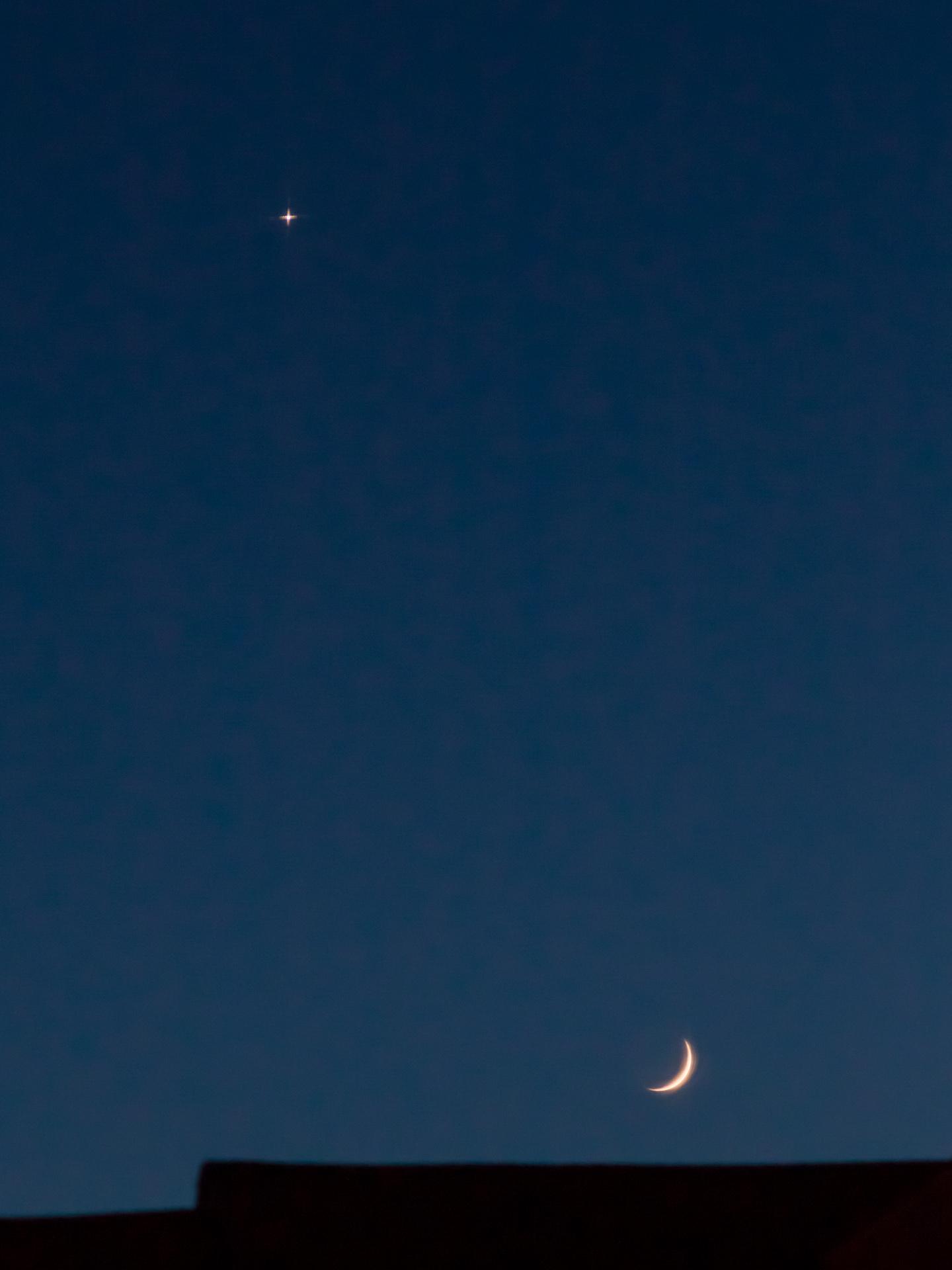 Venus Watching the Moonset | 20180615 2053 W:38.96x77.00@84m