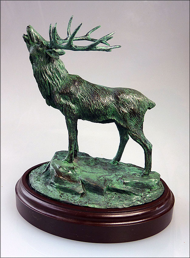 Stag (bronze resin with verdigris finish)