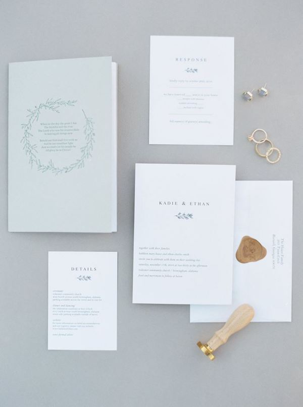 Photo by Megan Murphy Photography // Wedding of Ethan and Kadie Smith // Program and Wax Seal by FHP
