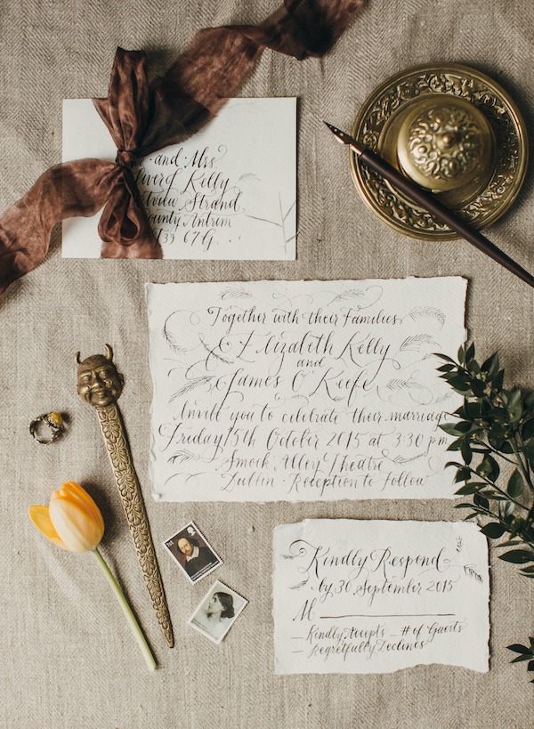 Calligraphy by Four Hats Press | Photo by Paula O'Hara