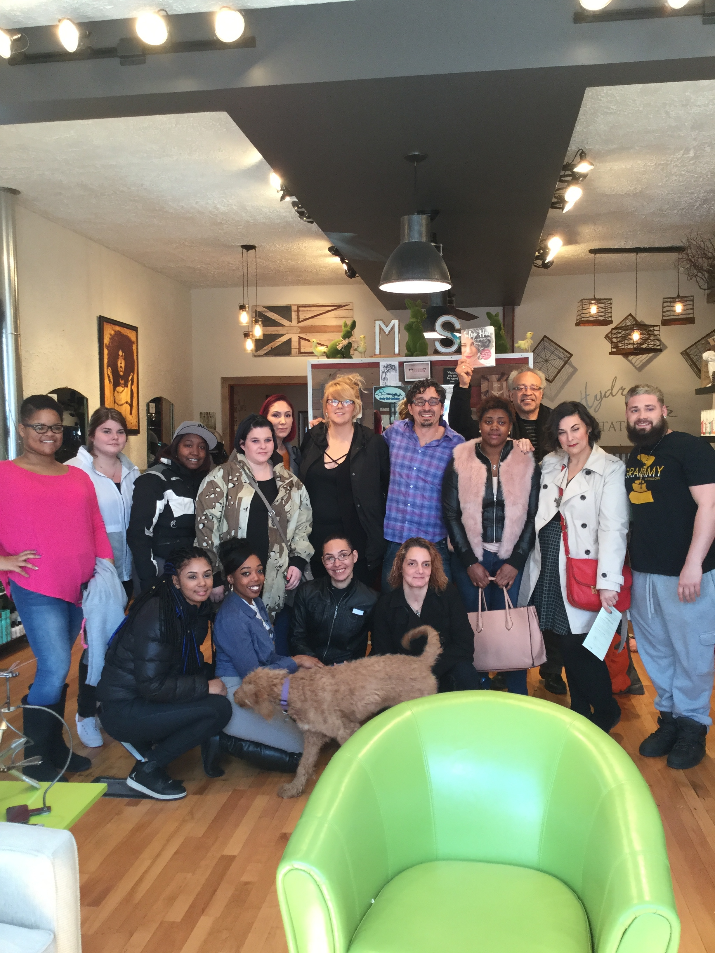EOC in troy came in and toured the salon and Ron spoke to these future stylists..