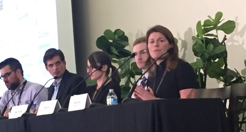 Panel:  The Perils & Promise of Predictive Analytics in Law -- Prof. Daniel Martin Katz, Chicago Kent College of Law; John Nay, CEO, Skopos Labs; Gipsy Escobar, Measures for Justice; Josh Becker, CEO, Lex Machina; Dera Nevin, eDiscovery Counsel, Proskauer Rose.