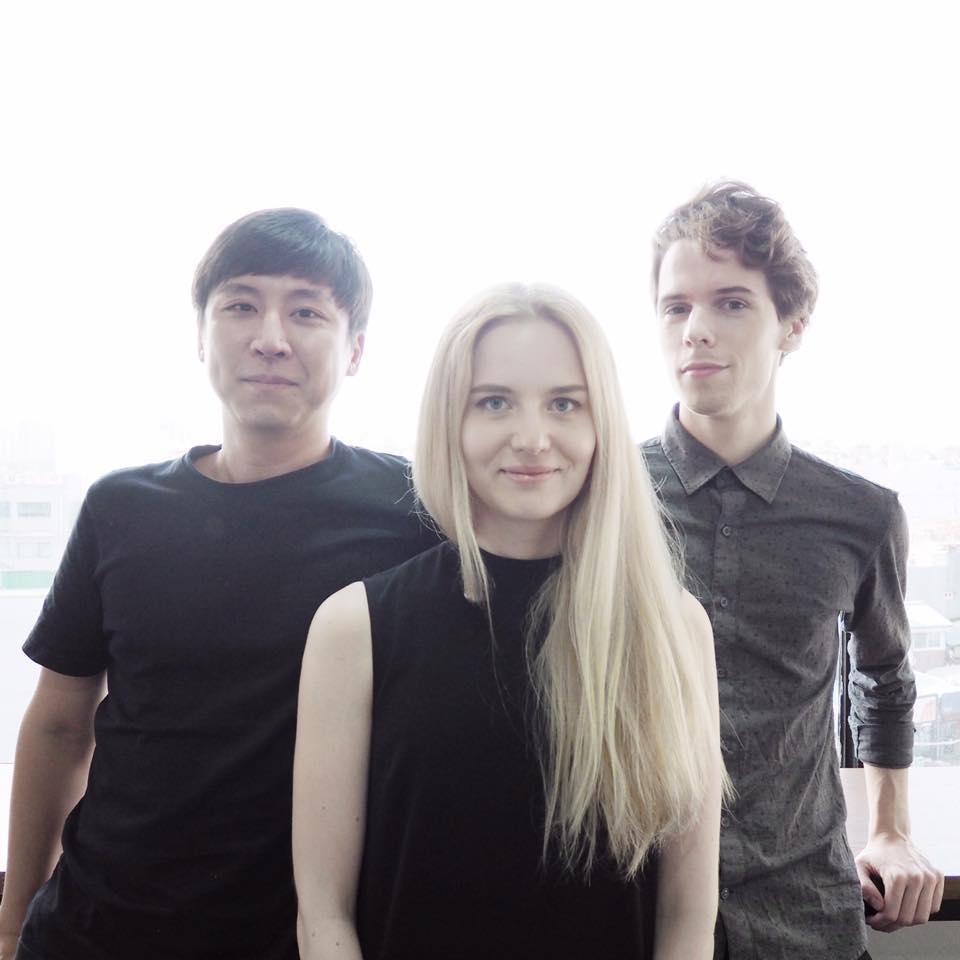 Team Almond Studio: Jo Shua, Milla Niskakoski and Erlend Storsul Opdahl.
