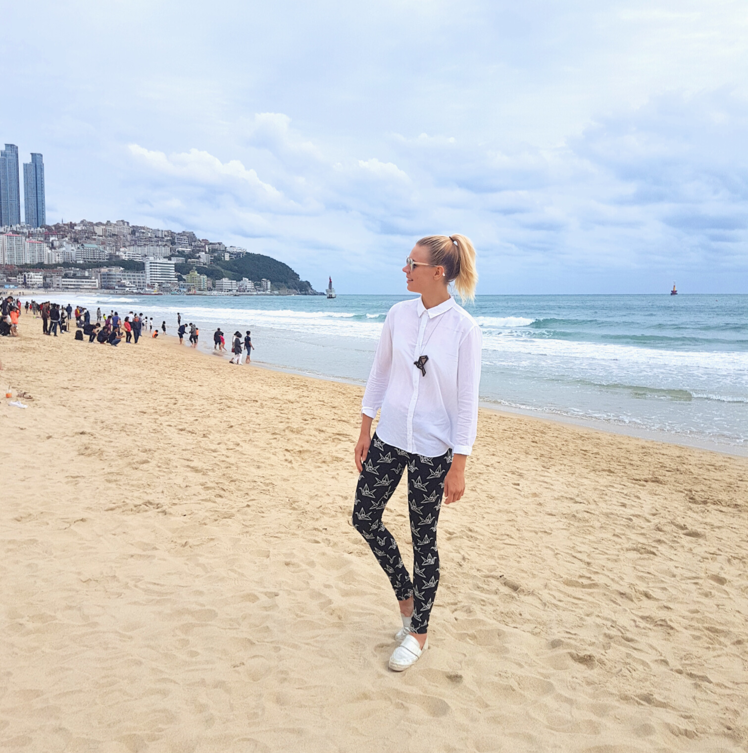How I have missed the sea breeze. Enjoying the beach life in  Yo Zen  outfit. Photo by Tony Park.