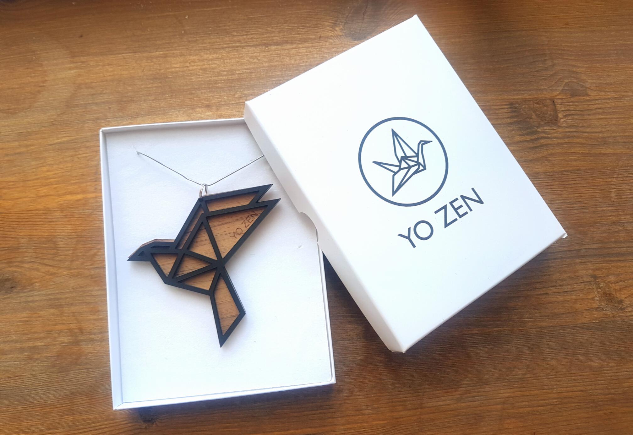 YO ZEN Dove pendant.