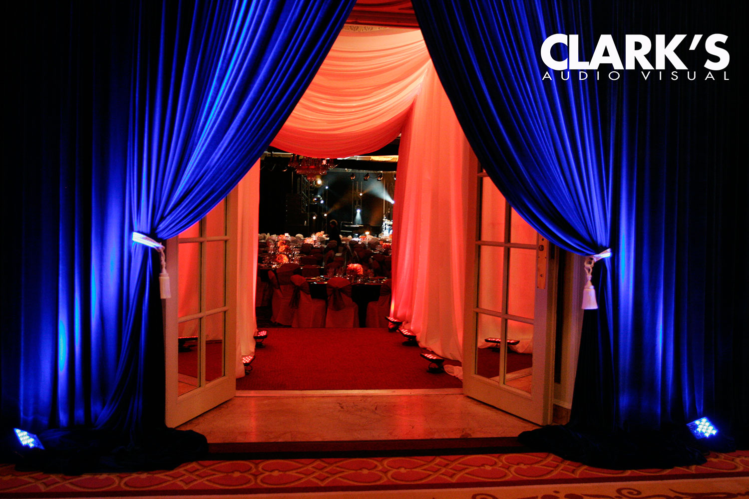 Clark's Audio Visual Draping Rentals