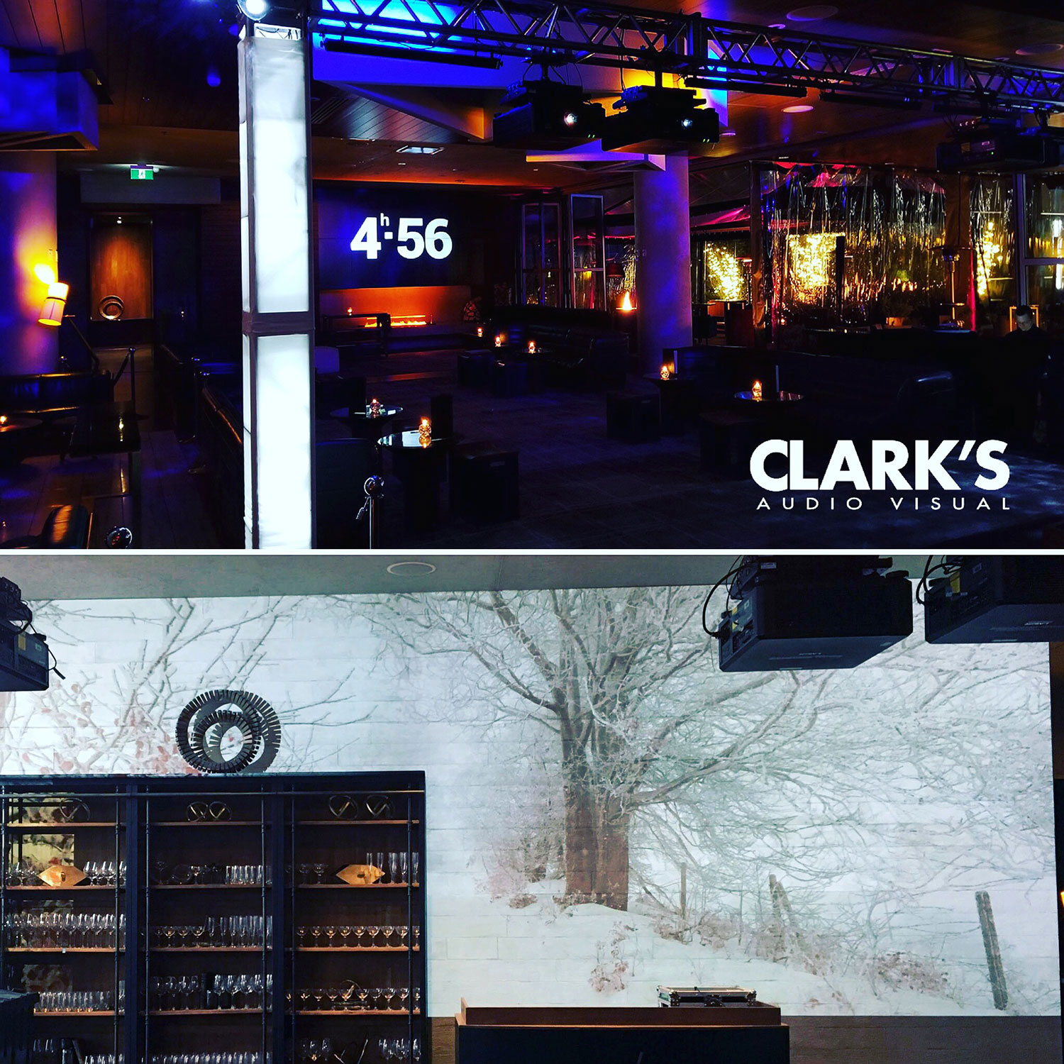 Clark's Audio Visual Projection Mapping Parq Vancouver