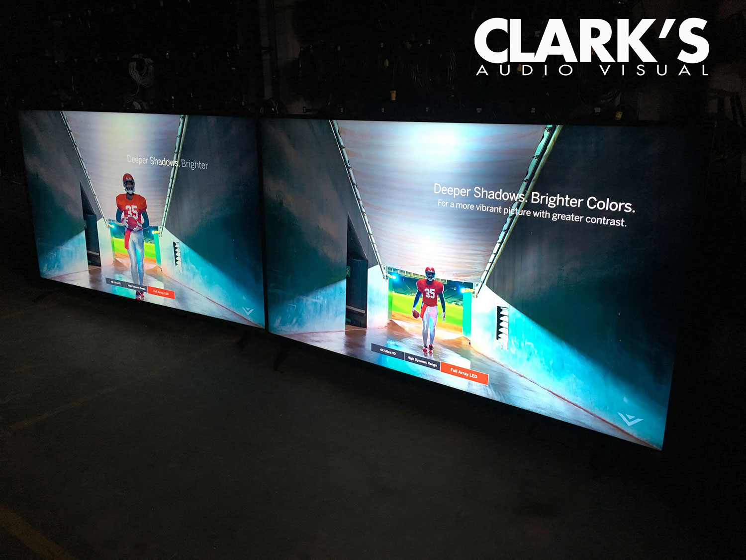 Clark's Audio Visual  4K LED Monitors