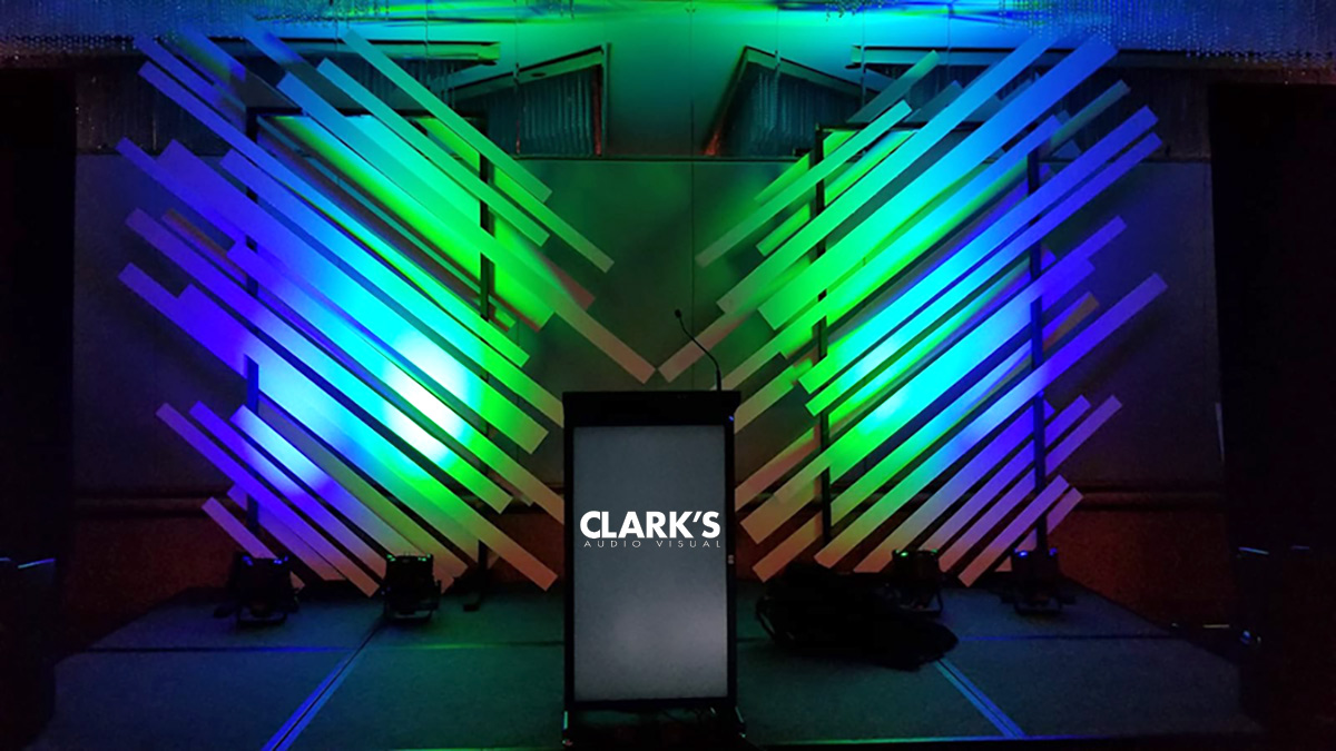 Clark's Audio Visual Stage set design