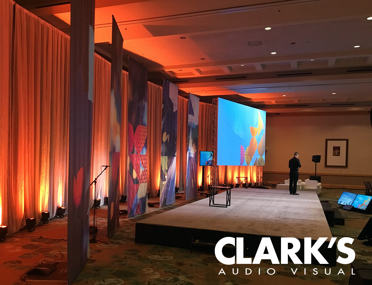 Clark's Audio Visual Corporate Event