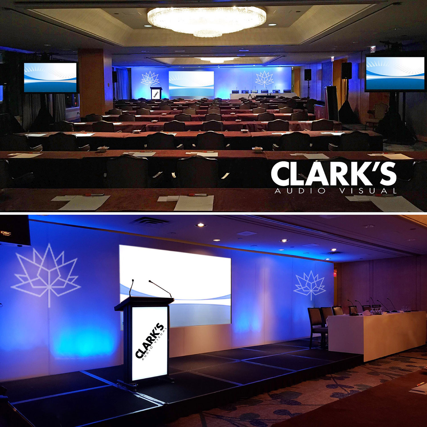 Clark's Audio Visual Projectors and Podiums