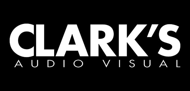 Clark's Audio Visual Logo black bg 625x300