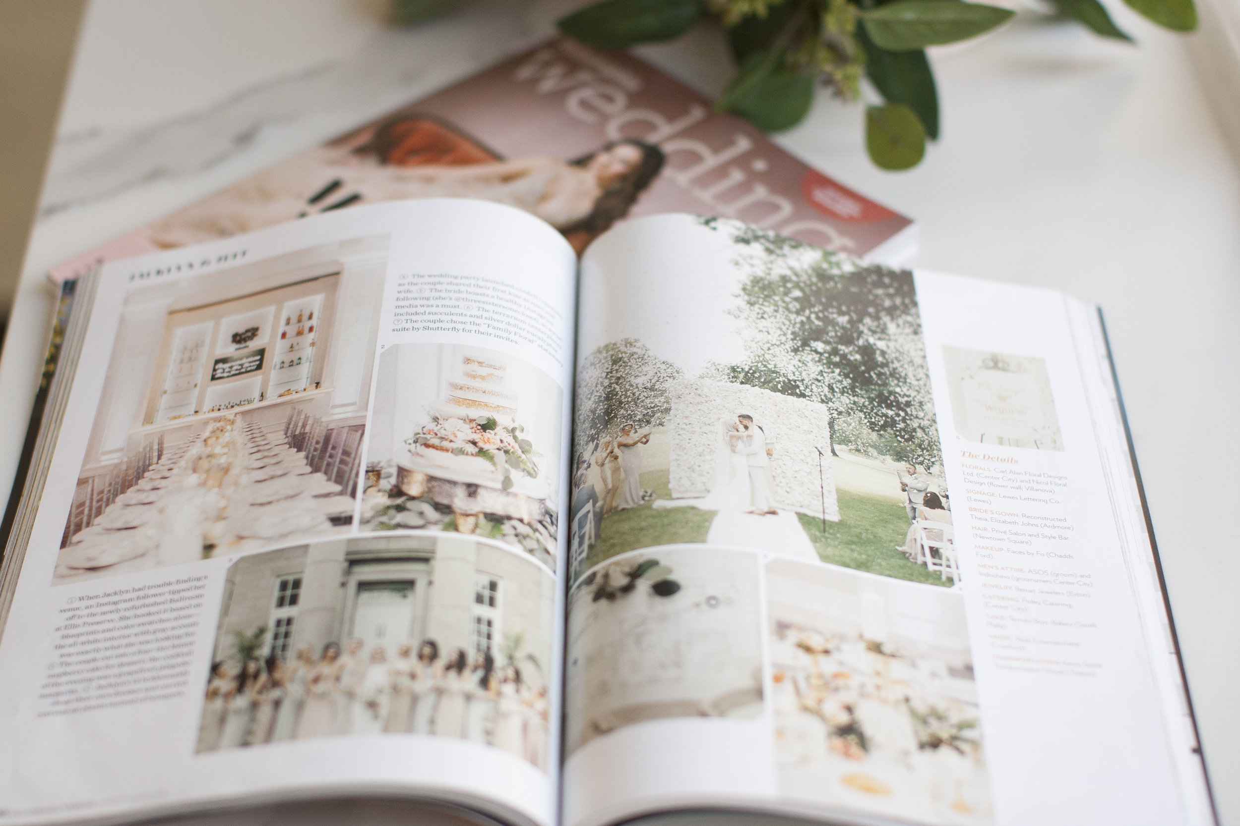 Spring/Summer 2018 Philadelphia Wedding Magazine. Photography by Rachel McGinn.