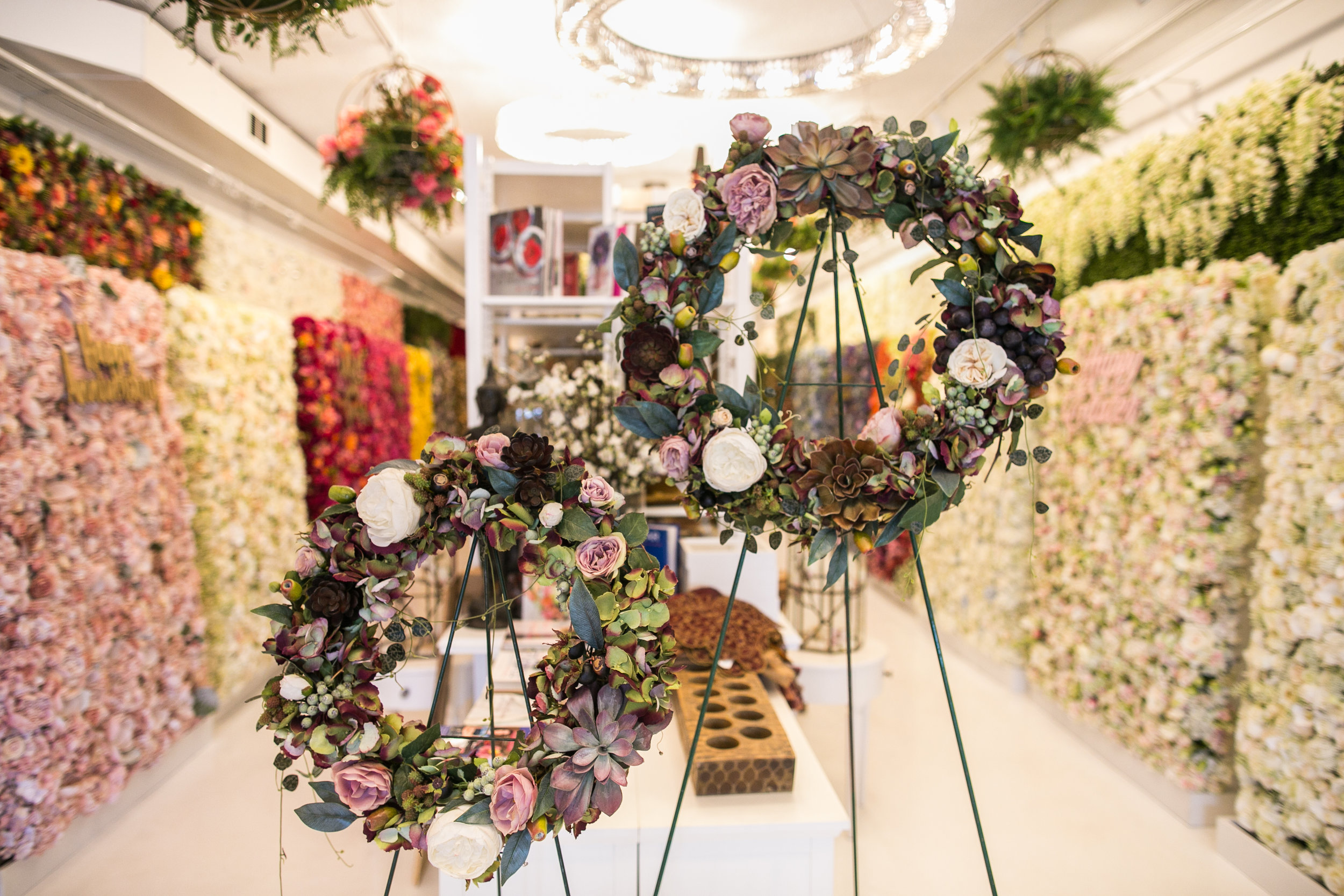 Silk Floral Wreaths $0.00