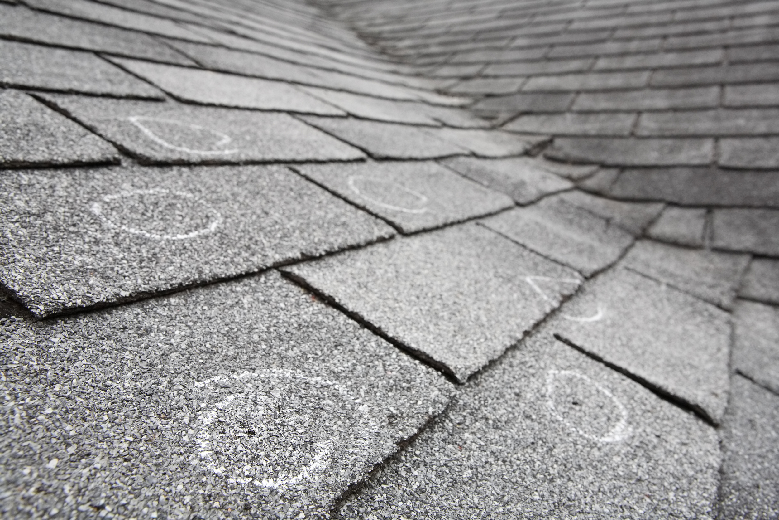 Tip: Hail damage to your roof is extremely hard to identify from the ground. However, damage to other soft metals on your property can provide good collateral.