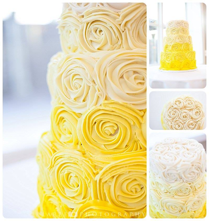 Wedding Cake13 - Yellow Ombre Buttercream Rosette Cake.jpg
