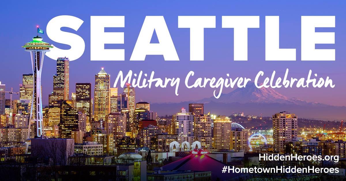 Seattle-area military caregiver celebration graphic.