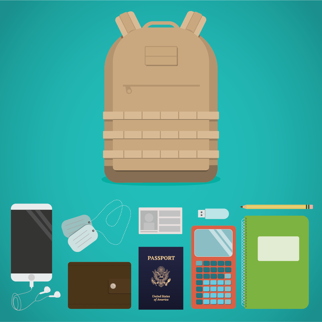 What's in Your Bag: Veteran + Student