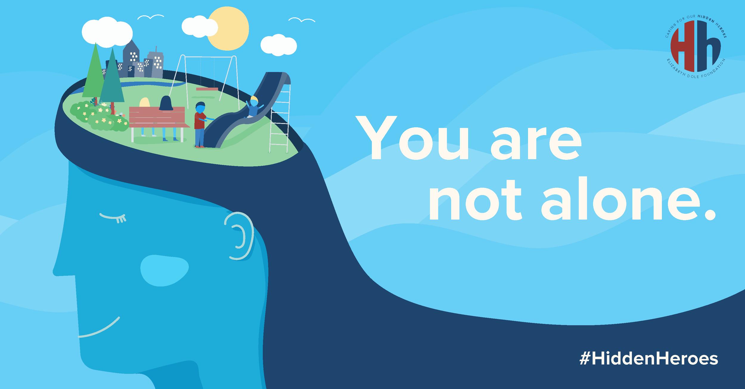 Mental health awareness graphic.
