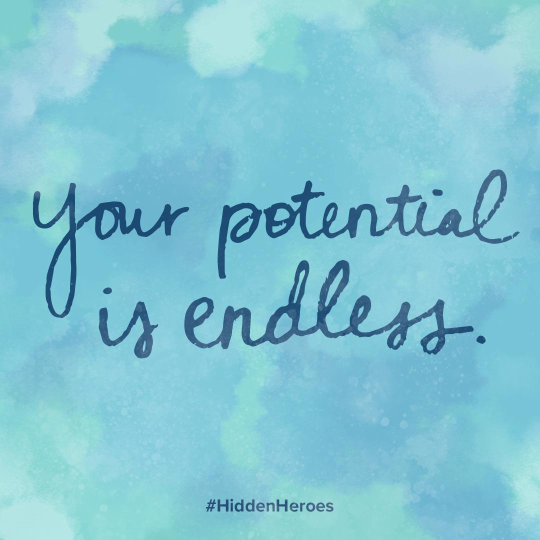 Series of handwritten motivational quotes.