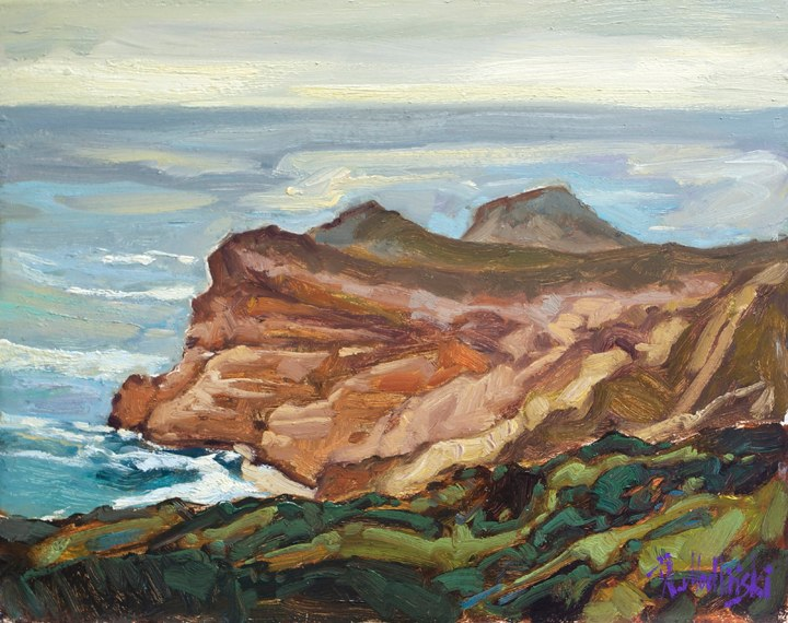 "Cape of Good Hope 11"" x 14"" oil on board"