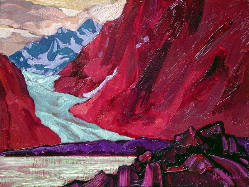 """Davidson Glacier  12"""" x 16"""" oil on board SOLD"""